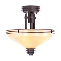 Livex 4365-67 Matrix 3 Light 14 inch Olde Bronze Semi-Flush Mount Ceiling Light in Iced Champagne photo thumbnail