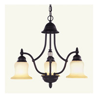 Livex Lighting Belle Meade 3 Light Chandelier in Bronze 4373-07