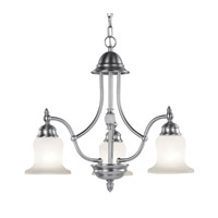 Livex Lighting Belle Meade 3 Light Chandelier in Brushed Nickel 4373-91