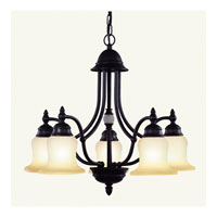 Belle Meade 5 Light 25 inch Bronze Chandelier Ceiling Light in Scavo Art
