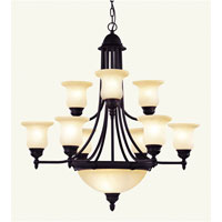Livex Lighting Belle Meade 9 Light Chandelier in Bronze 4379-07 photo thumbnail