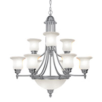 Livex Lighting Belle Meade 9 Light Chandelier in Brushed Nickel 4379-91