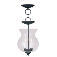 Livex Lighting Legacy 2 Light Pendant/Ceiling Mount in Black 4392-04