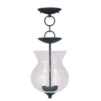 Livex 4392-04 Legacy 2 Light 8 inch Black Pendant/Ceiling Mount Ceiling Light