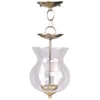 Livex Lighting Home Basics 2 Light Pendant/Ceiling Mount in Antique Brass 4393-01