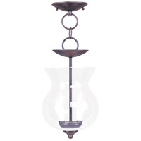Livex 4393-07 Home Basics 2 Light 8 inch Bronze Pendant/Ceiling Mount Ceiling Light