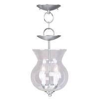 Livex 4393-91 Home Basics 2 Light 8 inch Brushed Nickel Pendant/Ceiling Mount Ceiling Light