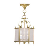 Livex Lighting Livingston 3 Light Pendant/Ceiling Mount in Polished Brass 4397-02