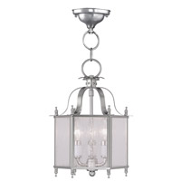 Livex 4397-91 Legacy 3 Light 10 inch Brushed Nickel Pendant/Ceiling Mount Ceiling Light