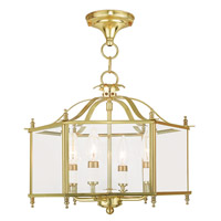 Livex 4398-02 Livingston 4 Light 16 inch Polished Brass Convertible Chain Hang Ceiling Light