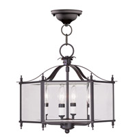 Livex Lighting Milford 4 Light Pendant/Ceiling Mount in Bronze 4398-07