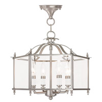 Livingston 4 Light 16 inch Brushed Nickel Convertible Chain Hang Ceiling Light