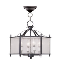 Legacy 4 Light 16 inch Bronze Pendant/Ceiling Mount Ceiling Light in Clear Seeded