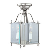 Livex Lighting Home Basics 2 Light Pendant/Ceiling Mount in Brushed Nickel 4408-91 alternative photo thumbnail