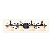 Livex 4414-56 Tuscany 4 Light 41 inch Copper Bronze with Aged Gold Leaves Bath Light Wall Light photo thumbnail