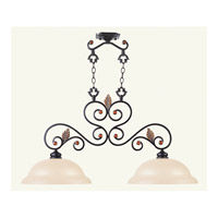 Livex 4422-56 Tuscany 2 Light 16 inch Copper Bronze with Aged Gold Leaves Chandelier Ceiling Light photo thumbnail