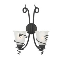 Livex Lighting Empire 2 Light Wall Sconce in Distressed Iron 4442-54