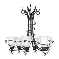 Livex Lighting Empire 6 Light Chandelier in Distressed Iron 4446-54