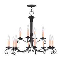 Livex Lighting Heritage 12 Light Chandelier in Black 4447-04