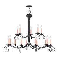 Livex Lighting Heritage 15 Light Chandelier in Black 4448-04