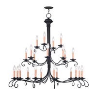 Livex Lighting Heritage 24 Light Chandelier in Black 4449-04