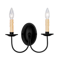 Livex Lighting Heritage 2 Light Wall Sconce in Black 4452-04