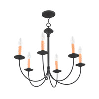 Livex 4456-04 Heritage 6 Light 26 inch Black Chandelier Ceiling Light alternative photo thumbnail