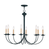 Livex 4457-04 Heritage 8 Light 30 inch Black Chandelier Ceiling Light