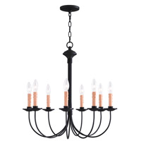 Livex 4458-04 Heritage 8 Light 24 inch Black Chandelier Ceiling Light photo thumbnail
