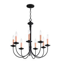 Livex 4458-04 Heritage 8 Light 24 inch Black Chandelier Ceiling Light alternative photo thumbnail
