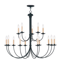 Livex 4460-04 Heritage 15 Light 36 inch Black Chandelier Ceiling Light