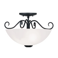 Livex Lighting Heritage 2 Light Ceiling Mount in Black 4461-04