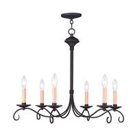 Livex Lighting Heritage 6 Light Chandelier in Black 4466-04