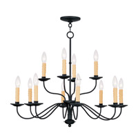 Livex Lighting Heritage 12 Light Chandelier in Black 4467-04