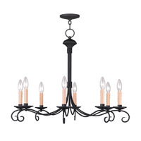 Livex Lighting Heritage 8 Light Chandelier in Black 4469-04