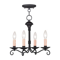 Livex Lighting Heritage 4 Light Mini Chandelier/Ceiling Mount in Black 4474-04