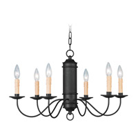 Heritage 6 Light 25 inch Black Chandelier Ceiling Light