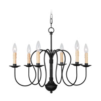 Livex Lighting Heritage 6 Light Chandelier in Black 4478-04