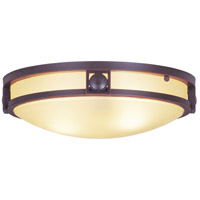 Livex 4487-67 Matrix 2 Light 13 inch Olde Bronze Ceiling Mount Ceiling Light in Iced Champagne