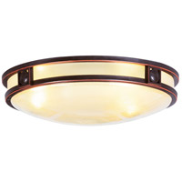 Livex Lighting Matrix 3 Light Ceiling Mount in Olde Bronze 4488-67