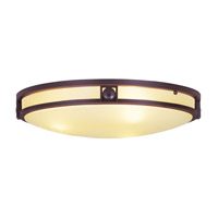 Livex Lighting Matrix 3 Light Ceiling Mount in Olde Bronze 4489-67