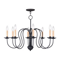 Livex Lighting Heritage 8 Light Chandelier in Black 4528-04