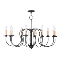 Heritage 10 Light 36 inch Black Chandelier Ceiling Light