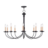 Heritage 10 Light 38 inch Black Chandelier Ceiling Light