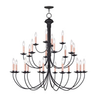 Heritage 24 Light 42 inch Black Chandelier Ceiling Light