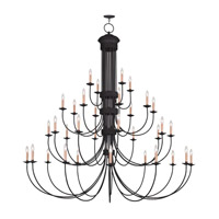 Livex Lighting Heritage 34 Light Chandelier in Black 4538-04