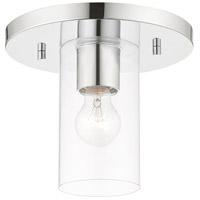 Livex 45471-05 Zurich 1 Light 9 inch Polished Chrome Flush Mount Ceiling Light