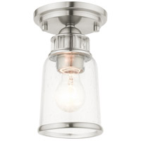 Livex 45501-91 Lawrenceville 1 Light 5 inch Brushed Nickel Flush Mount Ceiling Light