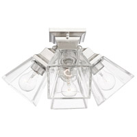 Livex 45564-91 Mission 4 Light 16 inch Brushed Nickel Flush Mount Ceiling Light