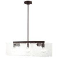 Livex 45623-07 Ashcroft 3 Light 7 inch Bronze Chandelier Ceiling Light